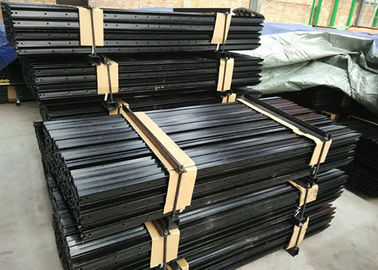 Black Painted Y Fence Post / Metal Fence Posts For Australia , New Zealand